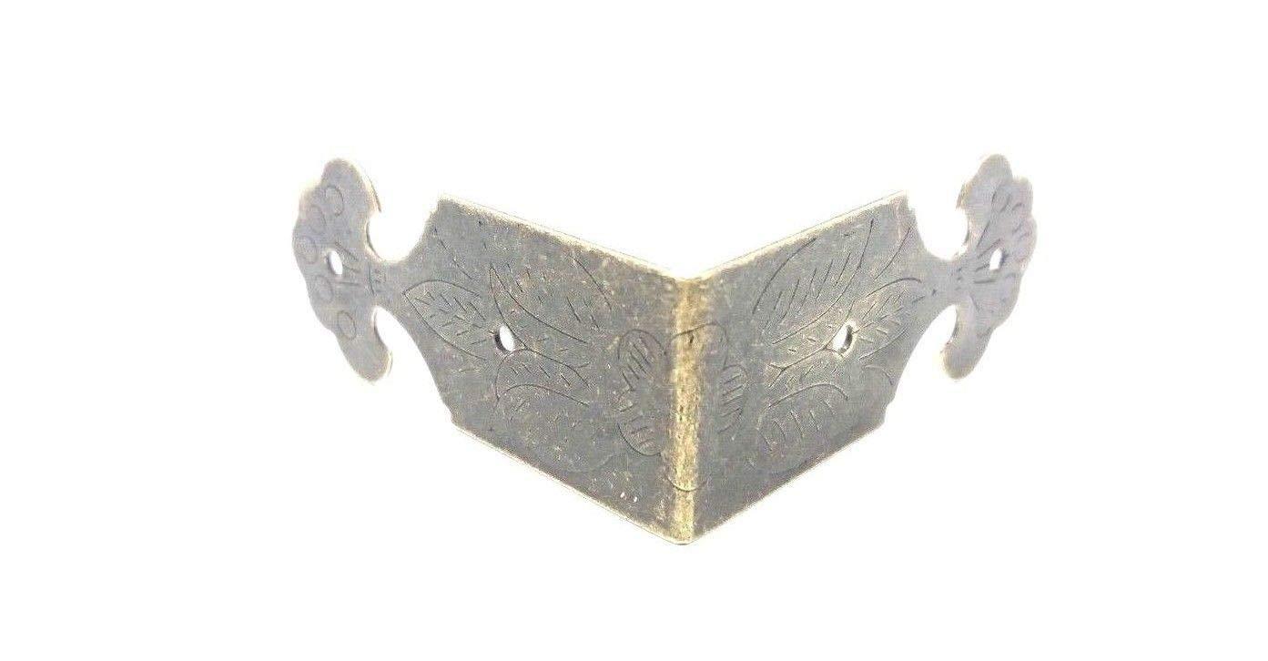 Lot de 4-coloris laiton antique Vintage Boî te mé tallique coins bretelles (bretelles angle inclus de Celtic Woods cadeau portefeuille C029 calendrier)