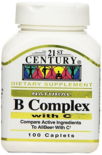 21st Century B Complex with Vitamin C Tablets, 100-Count (6 Pack)