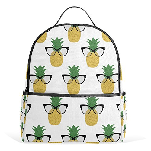 Sunlome Cute Sunglass Pineapple Laptop Backpack Casual Shoulder Daypack for Student School Bag Handbag - - Medium Measurements Sunglasses Sized