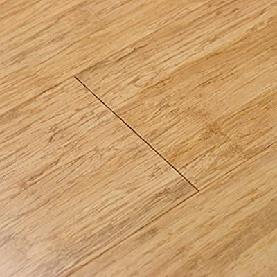 Cali Bamboo - Solid Wide Click Bamboo Flooring, Natural Light Brown - Sample