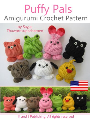 Amazoncom Puffy Pals Amigurumi Crochet Pattern Easy Crochet Doll