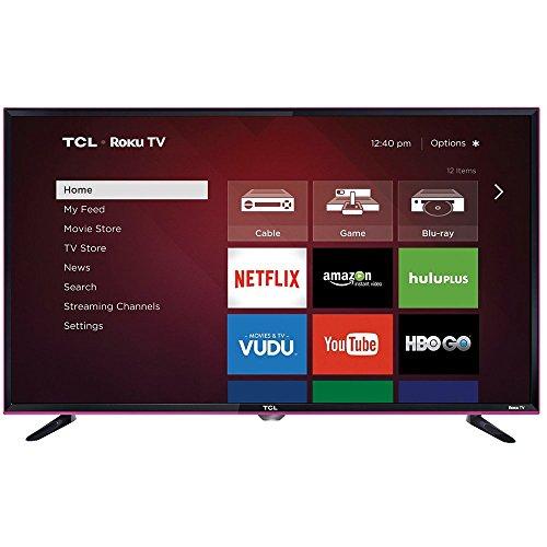 TCL 32S3850P 32-Inch 720p Roku Smart LED TV (Pink) (2015 Model