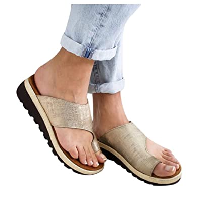 Fudule Sandals Women 2020 New Comfy Wedges Open Toe Platform Sandal Shoes Summer Beach Roman Shoes Flip Flops Slipper: Clothing