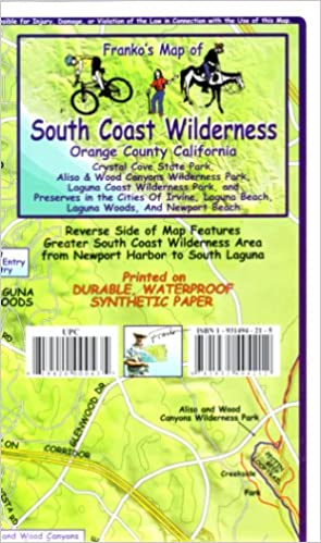 Franko's Trail Map of the South Coast Wilderness: Franko