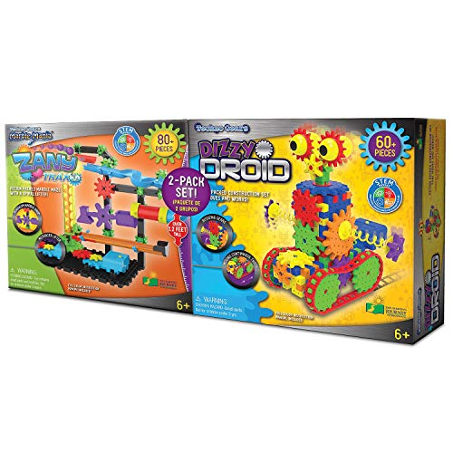 Techno Gears Marble Mania Zany Trax 4.0 Action Packed Marble Maze with A Spriral Lifter! 80+ Pieces (Mania Marble Sets)