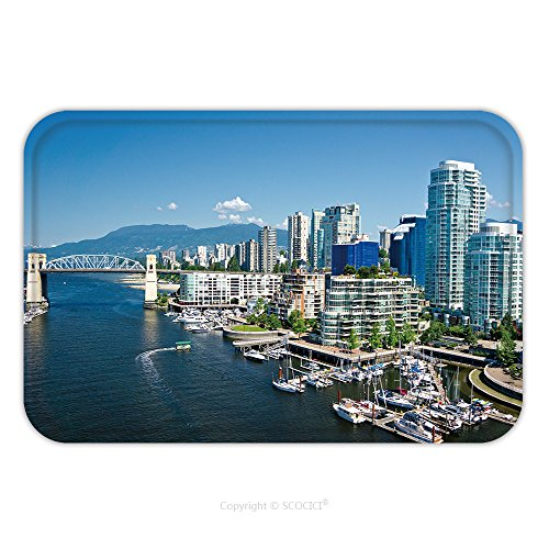 [Flannel Microfiber Non-slip Rubber Backing Soft Absorbent Doormat Mat Rug Carpet Beautiful View Of Vancouver British Columbia Canada 212016496 for Indoor/Outdoor/Bathroom/Kitchen/Workstations] (British Columbia Costumes)