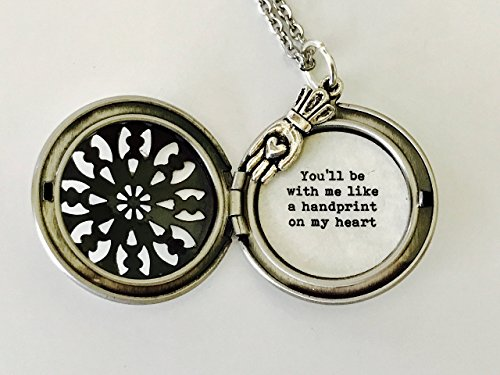 You'll be with me like a handprint on my heart, Wicked Necklace, Broadway Jewelry, Silver -