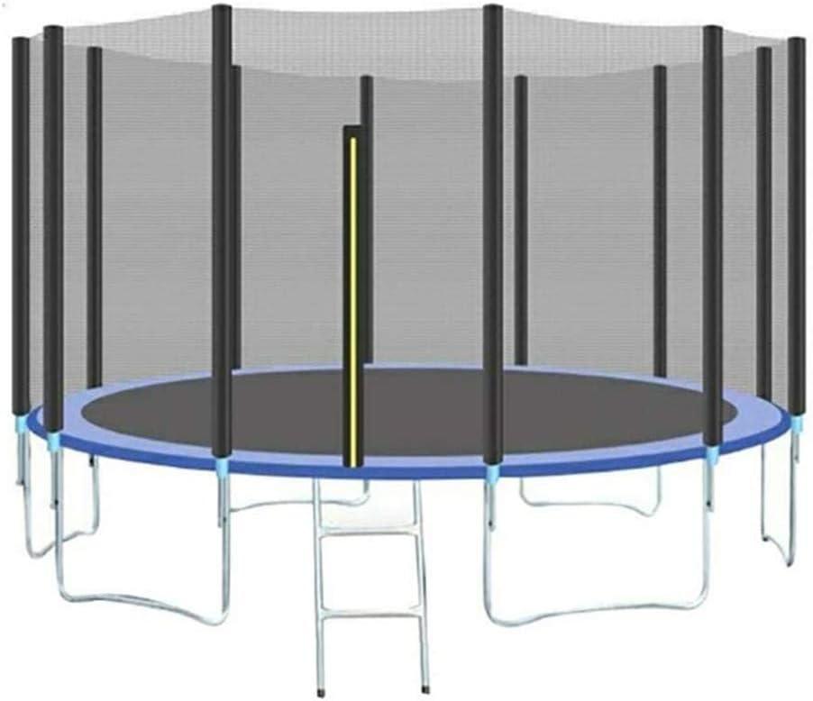 QXTT Trampolín Cama Elástica De Jardín Trampolín para Niños Y Adultos 488cm Exterior Cama Elástica Redonda con Escalera Recinto Red De Seguridad Ejercicio Fitness para Infantil Chico Chica