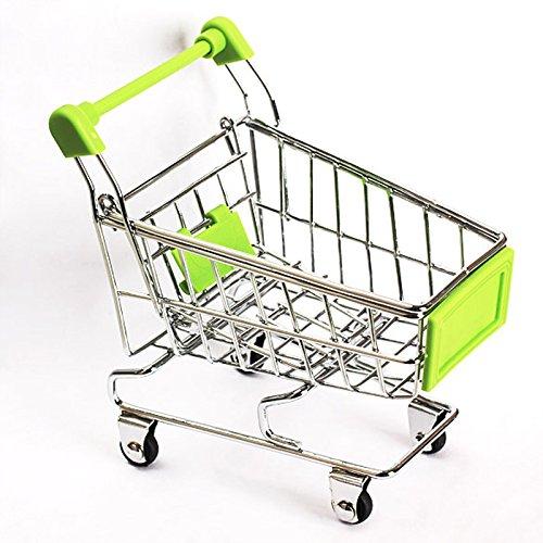 (GreenSun TM Cute Baby Kid Model Toy Gift Mini Supermarket Handcart Shopping Utility Cart Model Storage Toy Green New)