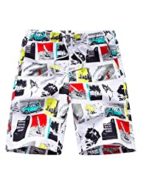ZXHHL 5 Points and 5 Points Loose Printed Beach Pants