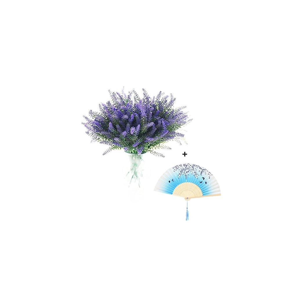8-Bundles-Artificial-Flowers-Lavender-Bouquet-in-Purple-Artificial-Plant-Arrangement-Lifelike-Natural-Fake-Plant-to-Brighten-Up-Your-Home-Decor-Party-Wedding-Garden-Office-Patio-Decoration