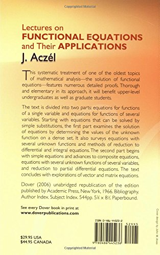 Lectures on functional equations and their applications dover books lectures on functional equations and their applications dover books on mathematics j aczel mathematics 9780486445236 amazon books fandeluxe Image collections