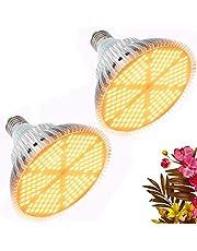 Groeilampen Volledig Spectrum, 120W LED Plantenlamp voor Kamerplanten, 180 LEDs Grow Light for Indoor Plants, Warm Wit Plantenlicht voor Tuinkas Kamerplanten, Bloemen en Groenten (2 Pack)