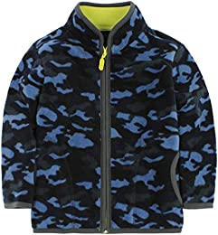 Little Boy Camouflage Fleece Zipper Jackets