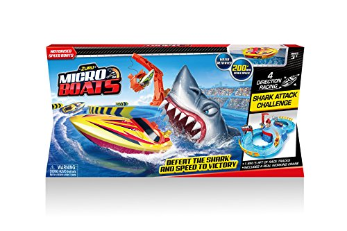 Boat Race Game - Zuru Micro Boats Shark Attack Playset
