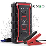 Flylinktech 1500A Peak 20000mAh Car Jump Starter (All Gas, up to 7.0L Diesel Engine), 12V Portable Power Pack Auto Battery Booster with USB Quick Charge 3.0 Phone Charger with LED Light