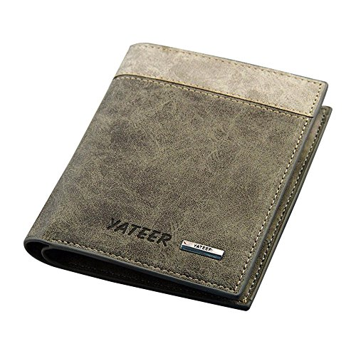 Tootu Bifold Men's Leather Wallet ID Business Credit Card Holder Clutch - Brands Top Uk Luxury