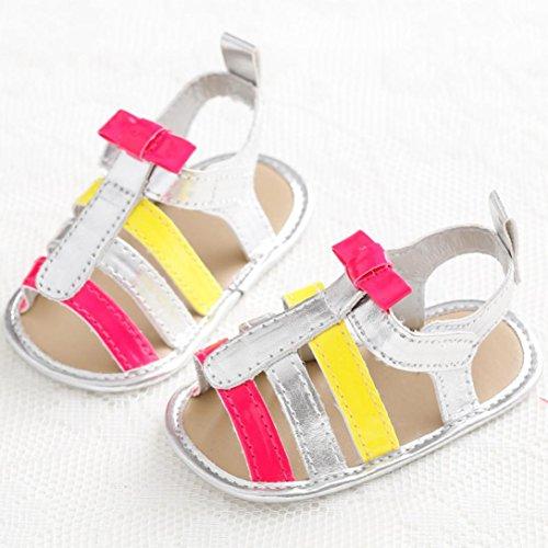 Clode® Bambin fille Crib chaussures sandales doux semelle anti-dérapante bébé nouveau-né fleur (0~ 6 mois)
