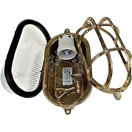 Moth Applique Dextérieur Hublot Lampe Ovale En Laiton Applique