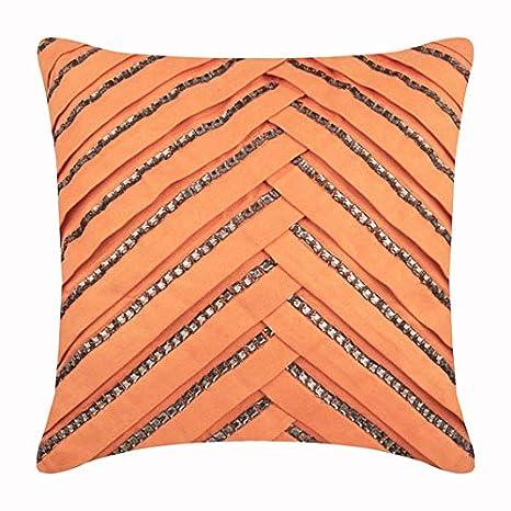naranja fundas de cojines, 30x30 cm fundas de almohadones ...