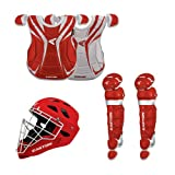 Easton Rival Home & Road Adult Baseball Catcher's Gear Package, Red