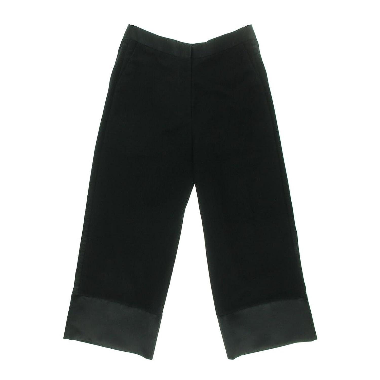 Ellery Womens Comrade Shadow Stripe Satin Trim Cropped Pants