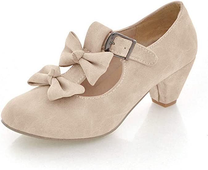 Details about  /Sweet Women Girls Lolita Bowknot Mary Janes Cosplay Casual Chunky Heel Shoes New