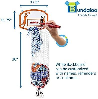 NEW Hamper Hoops 2-in-1 Over-The-Door Basketball Basket Storage Laundry Kid Room