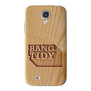 Tallada En Madera Efecto _ Bang Tidy (Full Wrap Case Impreso en 3d gran calidad, Snap-on Cover para Samsung Galaxy S4, diseño de barbacoa