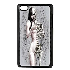 Skull Day of the Dead Hard Rubber Phone Cover Case FOR IPod Touch 4th GHLR-T396113