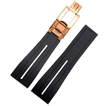Amazon.com 20mm/21mm Rubber Watch Strap Band Deployment