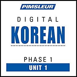Korean Phase 1, Unit 01