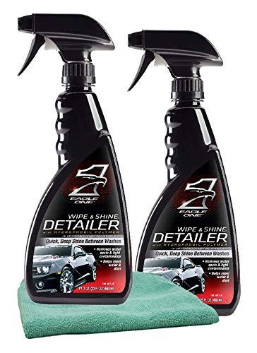 Eagle One Wipe & Shine Detailer Spray (23 oz) Bundle with Microfiber Cloth (3 ()