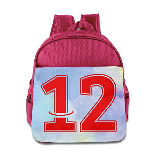 Price comparison product image Custom Dwight NO.12 Basketball Player Howard Funny Children Schoolbag For 1-6 Years Old Pink