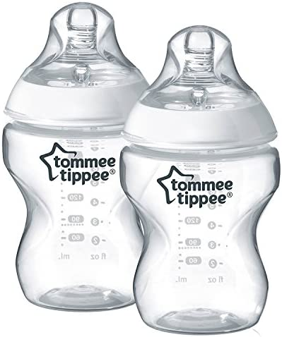 Closer To Nature Feeding Bottle, Pack Of 2, 260ml - Clear/White