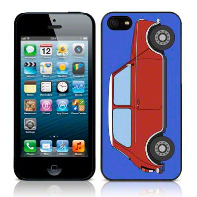 Call Candy Étui Collection Coque rigide brillante Motif Mini Voiture pour Apple iPhone se/5S/5/5 – Rouge/Bleu