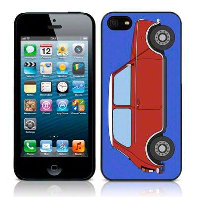 Call Candy Étui Collection Coque rigide brillante Motif Mini Voiture pour Apple iPhone se/5S/5/5–Rouge/Bleu