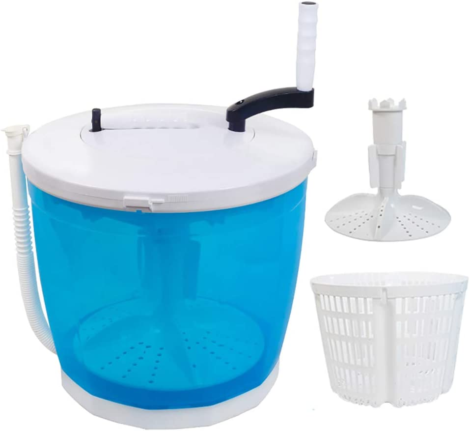 Portable Stacked Washer and Dryer Combo Mini Manual Washing Machine All in One Non-Electric Compact RV Laundry Machine