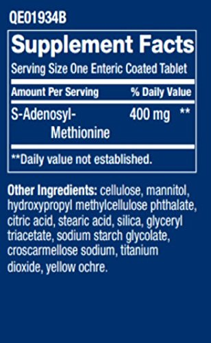 SAMe (S-Adenosyl-Methionine) 400 mg, 60 enteric coated tablets-PACK-3