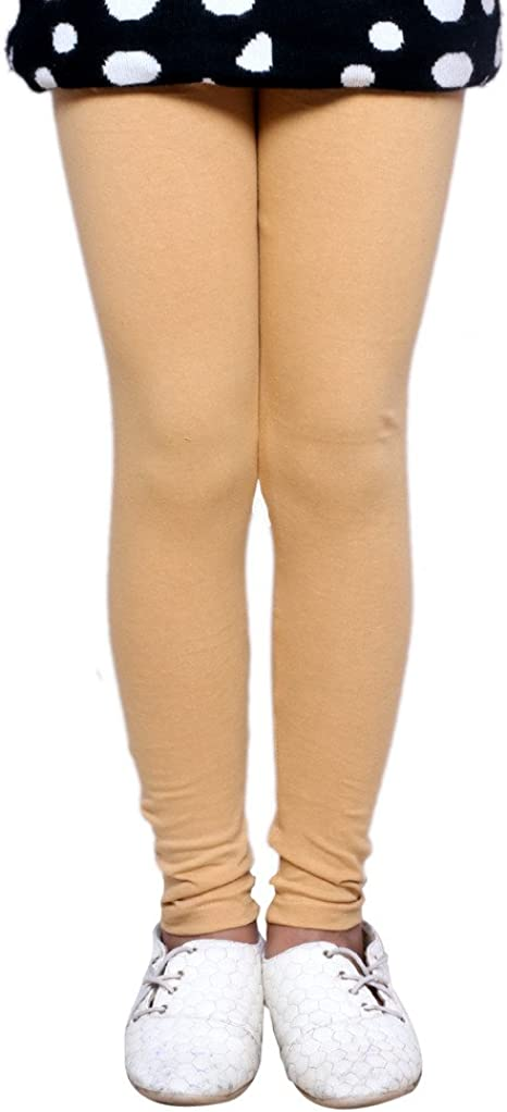 -Multiple Colors-17-18 Years Pack of 5 Indistar Big Girls Cotton Full Ankle Length Solid Leggings