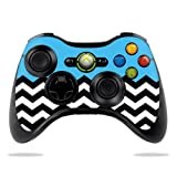 Protective Vinyl Skin Decal Cover for Microsoft Xbox 360 Controller wrap sticker skins Baby Blue Chevron