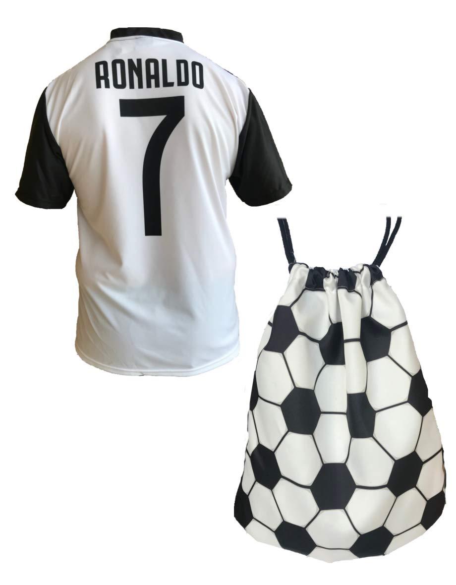 Maglia Juventus Cristiano Ronaldo 7 Replica Autorizzata 2018-2019 Bambino (Taglie-Anni 2 4 6 8 10 12) Adulto (S M L XL) + Omaggio Sacca Pallone