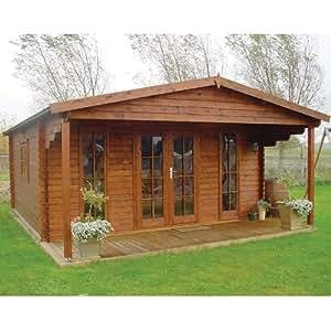 Tuin 16ft x 16ft (5m x 5m) Emiel Apex Log Cabin