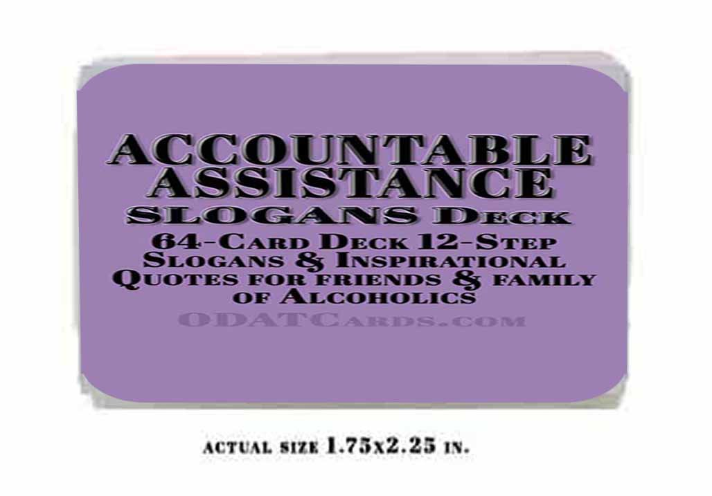 Al-Anon 12-Step Recovery Slogan Cards Support for Families of Alcoholics ebook