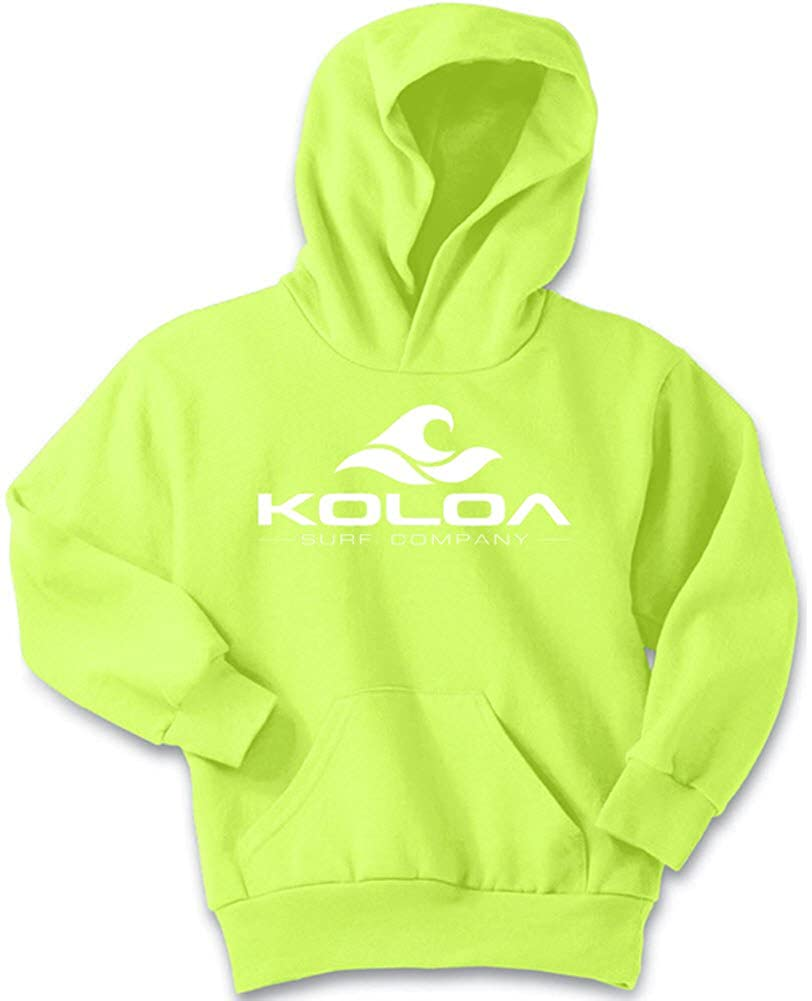 Koloa Surf Wave Logo Youth Hoodies-Pullover Hooded Sweatshirts in 24 Colors USALCW5711733
