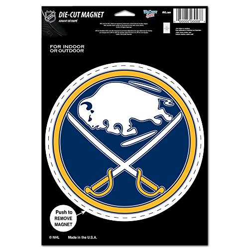WinCraft Buffalo Sabres Official NHL 6 inch x 9 inch Car Magnet by - Magnets Nhl