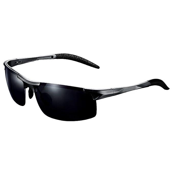 Polarized Sunglasses Lens Metal Frame Sport Sun Glasses For Men Women Driving