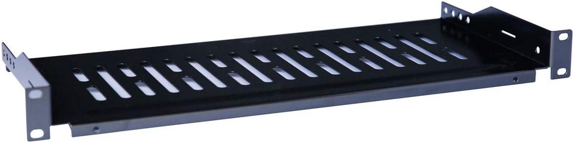 Raising Electronics Server Shelf Cantilever Tray Vented Shelves Rack Mount 19 Inch 1U 8Inch(200mm) Deep