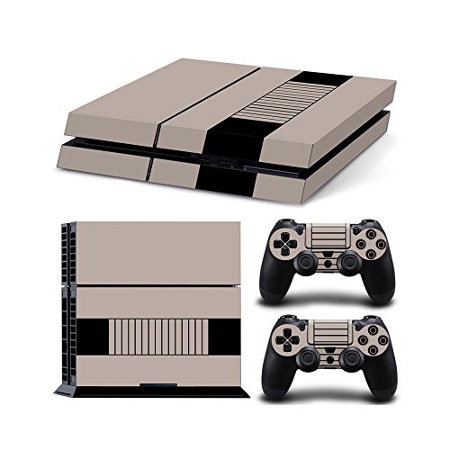 Cheap Gam3Gear Vinyl Sticker Pattern Decals Skin for PS4 Console & Controller- Retro Console V2