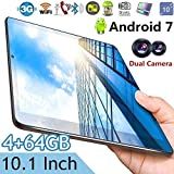 Leo565Tom Android Google Tablet PC Android 7.0 4 + 64GB para Estudiantes - Pantalla de Alta definición IPS de 10 Pulgadas Mtk6592 Tableta de Ocho núcleos WiFi Bluetooth